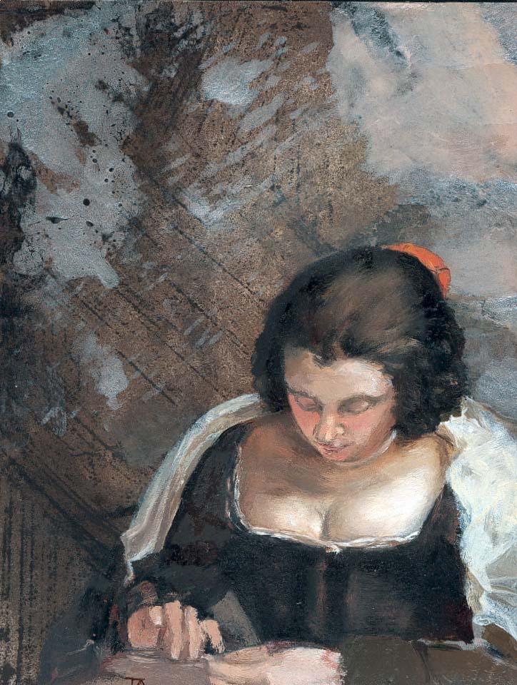 """la cosidora de """"La cosidora"""" de Velázquez (col. Josep Mª Sarret i Fina)"""