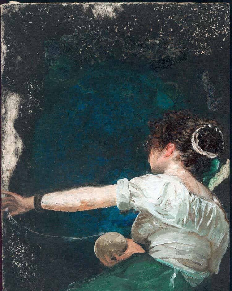 "La filadora de ""Les filadores"" de Velázquez (col. Ernest)"