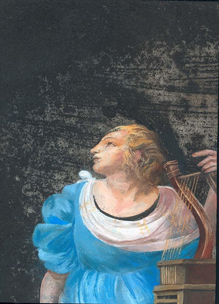 Noia amb arpa de Raffaello (col. Mirta Ramos)