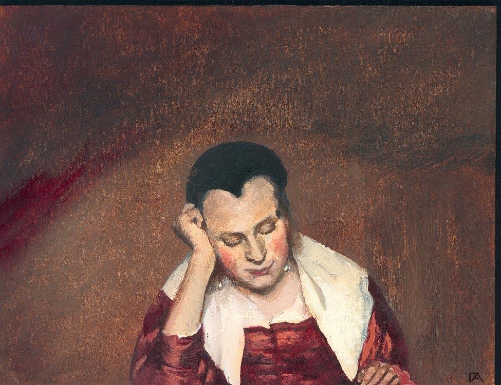 noia ensopida de Vermeer