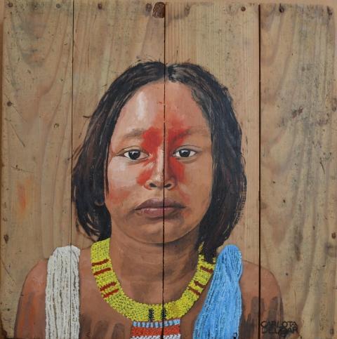 Nena de la tribu amazònica Kayapó